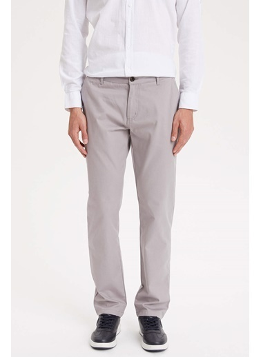 DeFacto Casual Relax Fit Chino Pantolon Gri